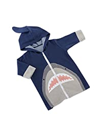Baby Aspen Shark Hooded Beach Zip Up