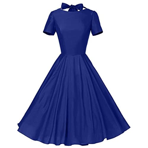 98c89daad24d ... Dresses GownTown Womens 1950s Vintage Retro Party Swing Dress  Rockabillty Stretchy Dress. Sale!