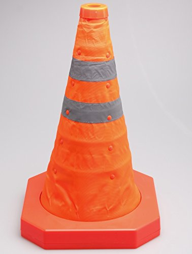 Cartman Collapsible Traffic Cone 15,5 Inches, Multi Purpose Pop up Reflective Safety Cone (4PK) by CARTMAN (Image #1)