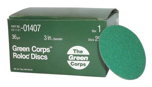 3M 01407 Green Corps Roloc Green Disc