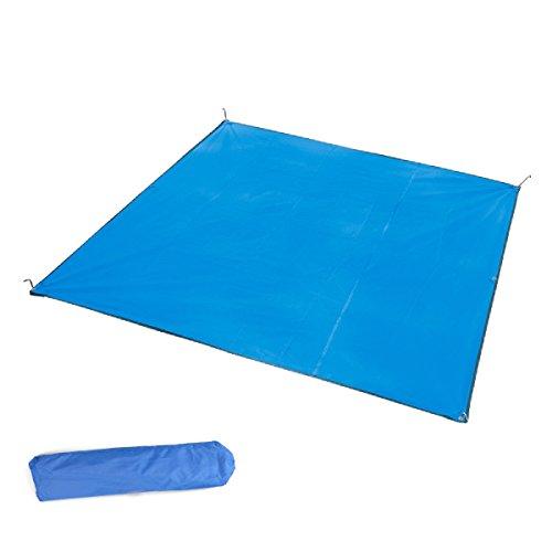 1 Floor Saver (TRIWONDER Camping Tent Tarp Footprint Outdoor Waterproof Hammock Rain Fly Rainfly Cover Sunshade Shelter Groundsheet Canopy Blanket Mat (Blue, 84.6 x 84.6 inches))