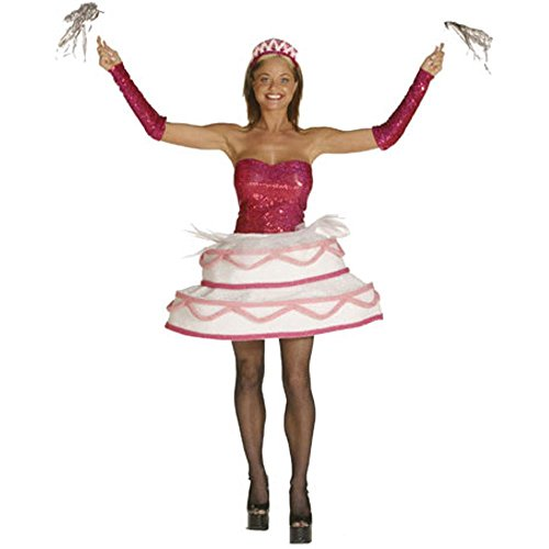 Adult Sexy Birthday Cake Costume (Size: Standard 6-10) -