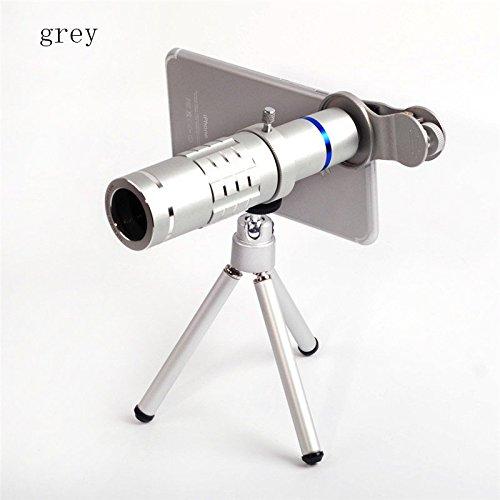 drivworld 18回電話双眼鏡襟クリップ望遠HDアウトドア写真アクセサリー B078RQW8NN グレー グレー