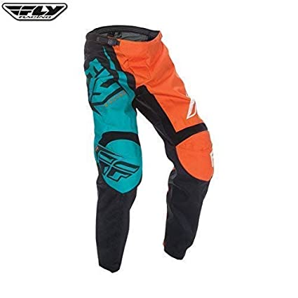 40 ORANGE//Turquoise Fly Racing 2017 F-16 adulte tout terrain motocross MX Pantalon Orange//Turquoise