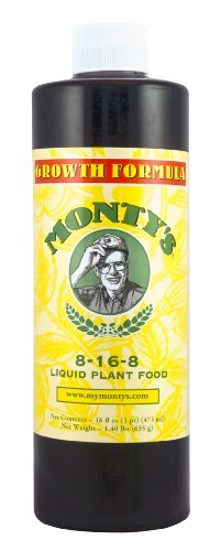 Monty's 816321 Growth Formula 8-16-8 Liquid Plant Food--32 oz. Concentrate