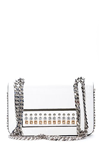 LA CARRIE BAG Borsa Bianco Donna Mirror Hand Art 181-U-360-EP BIANCO P18 Venta De Moda Eastbay Barato Real jN9aEy1GUk