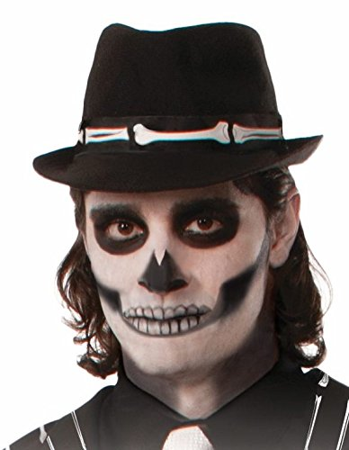 Skeleton Costume Accessories (Forum Novelties Bone Collection Skeleton Fedora Hat)