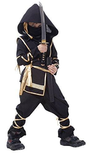 Biwinky Children Boys Authentic Ninja Uniform Kung Fu Uniform Costume Suit 10-12Y ()