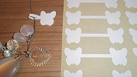 150 Farfalla Bianca Forma Adesivi Etichette Prezzo Di Gioielli A Forma Di Manubrio Etichette