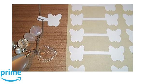 150 Blanco Mariposa en forma de Joyería Etiquetas para PRECIO /Precio Pegatinas/ forma de Mancuerna con Forma Etiquetas: Amazon.es: Oficina y papelería