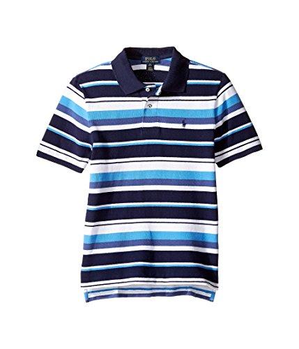 Ralph Lauren Boys Basic Cotton Mesh Striped Polo Shirt (X-Large / 18-20 Big Kids)