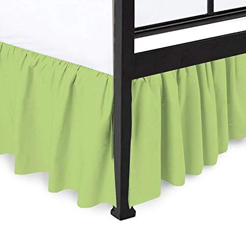 (Ruffled Bed Skirt Split Corners Ultrasoft Poly Cotton/Microfiber Upto 14