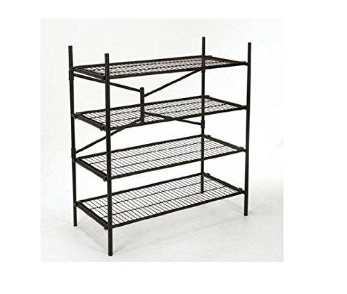 Cosco Black 4-Shelf Folding Instant Storage Unit