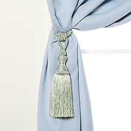 Jane Tassel Curtain Tie Back (Set of 2) - BLUE