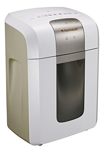 Bonsaii EverShred Pro 3S16 Heavy duty 12-Sheet Cross-Cut Paper/CD/Credit Card Shredder, Quiet Operation with 60 Minutes Running Time, White by Bonsaii
