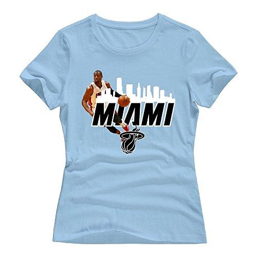 SkyBlue Dwyane Wade Short Sleeve Shirts For Women Size - Wiz Indianapolis Khalifa
