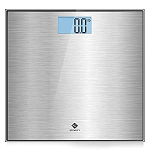 Etekcity Stainless Steel Digital Body Weight Bathroom Scale, Step-On Technology, Large Blue LCD Backlight Display,400… 3
