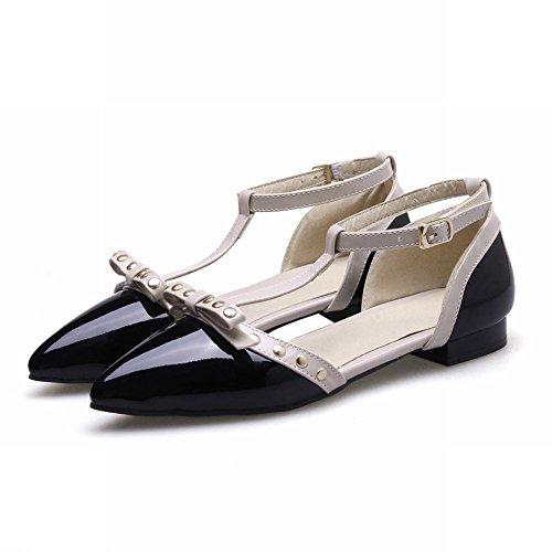 Mostra Brillare Moda Donna Rivetti Scarpe Con Fibbia Punta Punta Nera