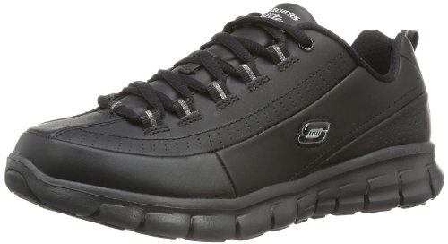 Skechers Sport Women's Synergy Elite Status Training Sneaker,Black Leather,5.5 M US