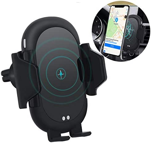 Wireless Car Charger, Automatic Clamping Infrared Sensor, 10W 7.5W 5W Fast Charging Phone Holder Air Vent Car Mount, Compatible iPhone X 8 Xr Xs Max Galaxy S10 S9 S8 S6 Plus Note 6 9 8 and More