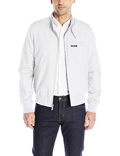 Members Only Men's Original Iconic Racer Jacket, White, L...