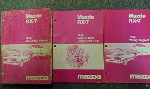1986 mazda rx 7 rx7 service repair shop manual 3 volume set factory Mercedes-Benz Wiring Diagrams
