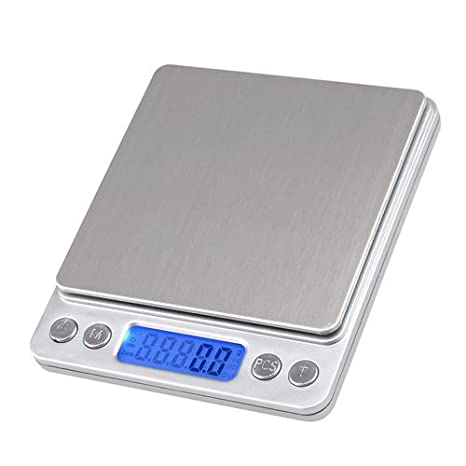 btkuon 3 kg/3000 G/0.1g 500 G/0.01g Báscula de cocina electrónica lcd dieta digital de bolsillo peso escala joyas Lab equilibrio: Amazon.es: Hogar