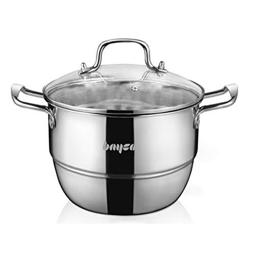 Shengshihuizhong Soup Pot, Milk Pot, Stainless Steel Soup Pot, Multi-Furnace Universal, 20cm, 24CM, Kitchen Best companio Latest Models (Size : 20cm)