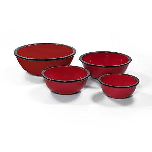 Ovenex 4 Piece Ceramic Mixing Bowl Set (Firebrick Red)
