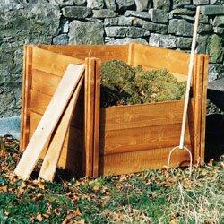 Holz Komposter 75 Cm X 90 Cm X 90 Cm Amazon De Garten