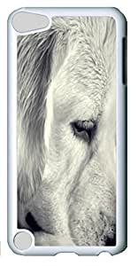 Fashion Customized Case for iPod Touch 5 Generation Cool White Plastic Case Back Cover for iPod Touch 5th with Melancholy