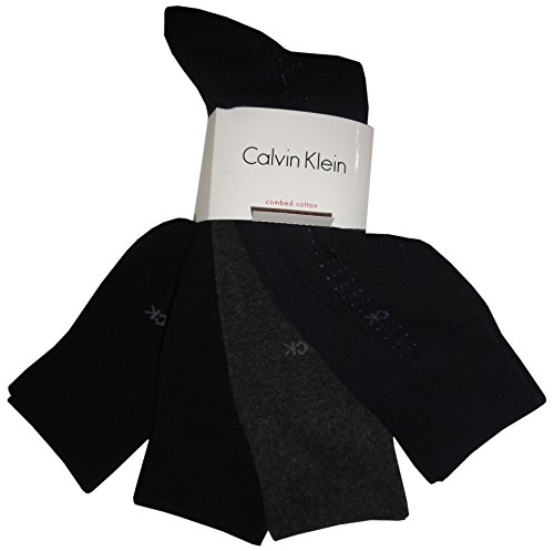 Calvin Klein Mens (Bonus 4 Pack) Cotton Dress Socks Asst One Size by Calvin Klein