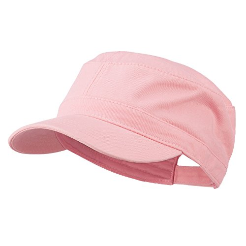Otto Caps Garment Washed Adjustable Army Cap - Pink OSFM