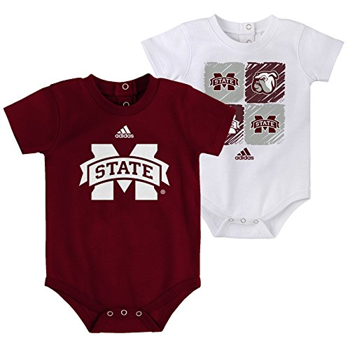 Outerstuff NCAA Mississippi State Bulldogs Children Boys Double Up 2Piece Onesie Set, 12 Months, Classic Maroon