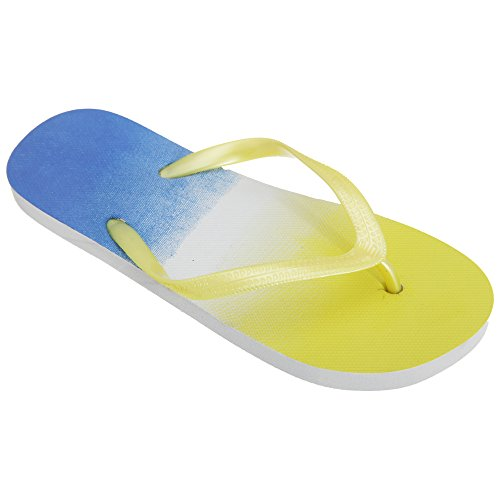 Flip Navy Post Flops Fade Two Ladies Yellow Tone Colour Womens Toe Floso 87PHH