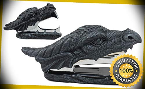 KARPP Medieval Smaug Fire Dragon Head Stapler and Staple Remover Office Desk Decors Perfect Indoor Collectible Figurines ()
