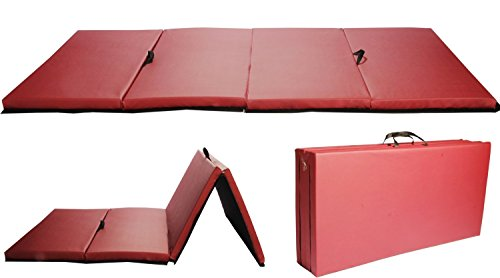 Burgundy 4'x8'x2'Thick Folding Panel Gymnastic Mat Gym Fitness Exercise Mat R4