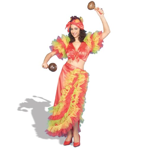 Carmen Miranda Hat Costume (Forum Novelties Inc Womens Latin Dancer Adult Costume Medium)