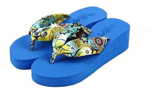 et Sandales Summens Femmmes Tongs Chaussures Croûte Bleu Confortables épaisse XxZYHUq