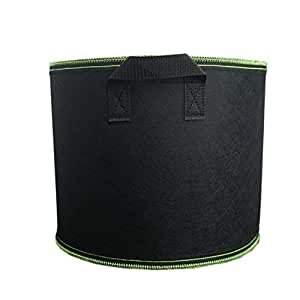 Ancdream 3 Gallon Grows Bag with Handle Straps Aeration Fabric Pots Black with Green