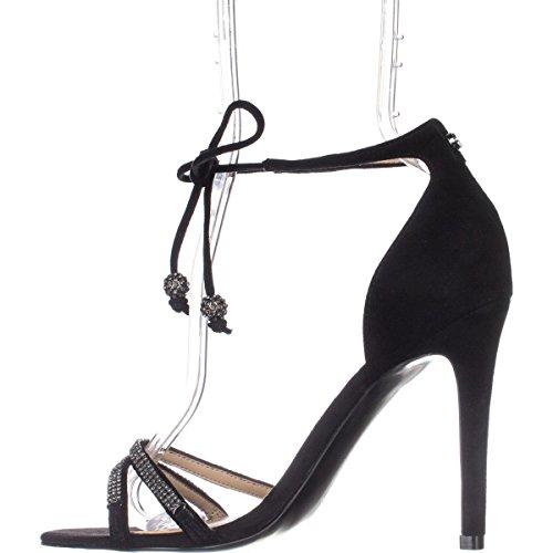 Guess Womens peri Suede Open Toe Casual Ankle Strap Sandals Black HVt52l