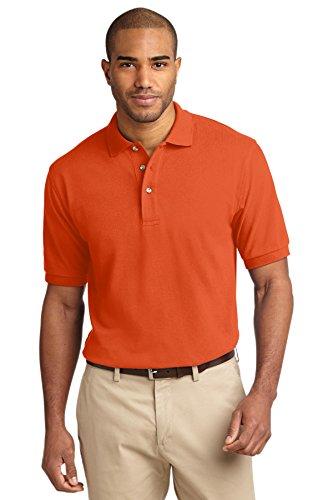 Port Authority Men's Pique Knit Polo M Orange