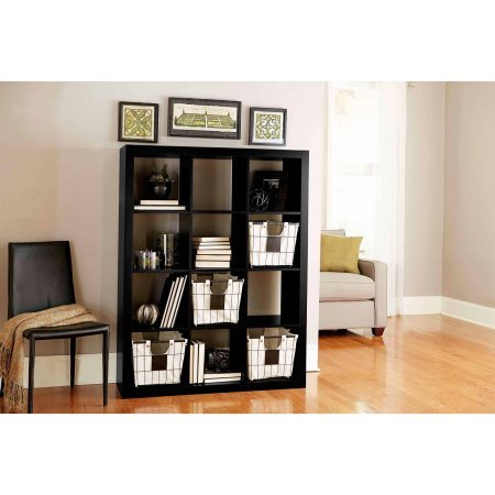 Better Homes and GardensBH15-084-199-09 12-Cube Organizer, Solid Black Color by Better Homes and Gardens