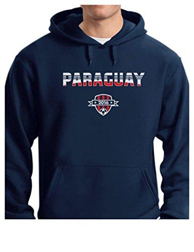 TeeStars - Paraguay National Soccer Team 2016 Paraguayan Fans Hoodie XX-Large Blue ()