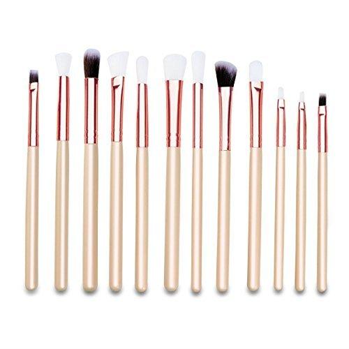 Makeup Eye Brush Set - WINOMO 12pcs Professional Eye Makeup Cosmetics Brushes Set for Eyebrow Eyeshadow Eyeliner Blending Crease Kit