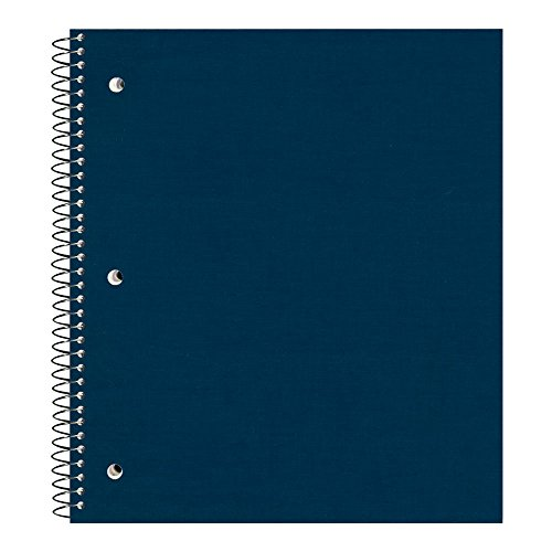 Pressboard Notebook - Natonal Brand Pressboard Cover Stuffer Notebook, College Ruled, Assorted Colors, Color May Vary, 1-Subject, 11 x 8.875 Inches, 100 Sheets (31098)