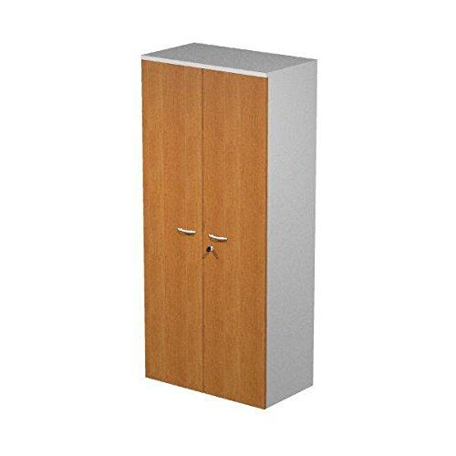 Mobile mit Schale in Laminat Melamin grau Aluminium mit Türen melamin Walnuss mit Schloss, MIS. 80x 33x 180h, Schrank mit 3Ablagen