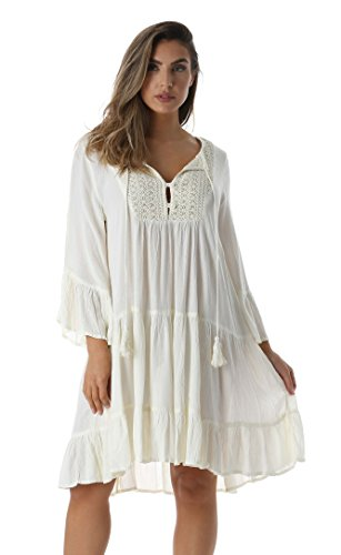 Riviera Sun 21767-WHT-M Dress Dresses for Women -