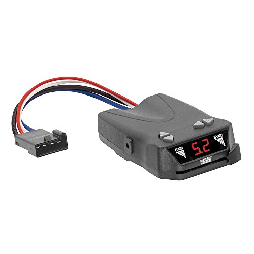 REESE Towpower 8507111 Brakeman IV Digital Brake Control, Small Compact Design (Adjust Speed Harness)