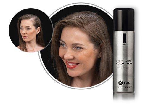 Kmax Spray Color - Castaño Medio - Para ocultar problemas de pérdida cabello. Alta resistencia a la humedad. 100 ml: Amazon.es: Belleza